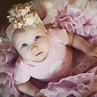 Baby in pink dresss
